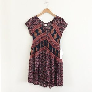 O'Neill Boho printed babydoll dress